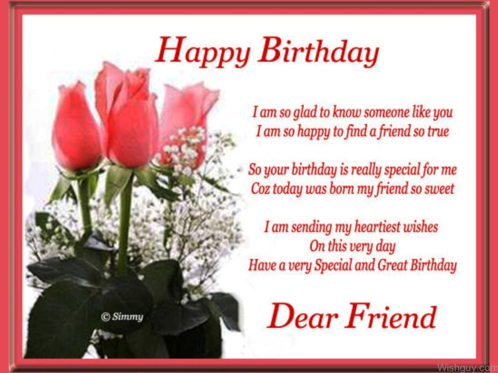 happy birthday letter to a special friend birthday wishes for friend wishes greetings pictures 18431