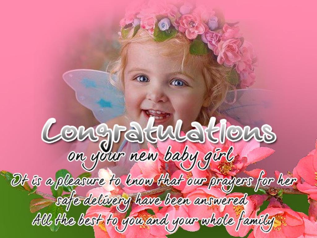 Newborn Baby Girl Wishes Wallpaper Siewalls