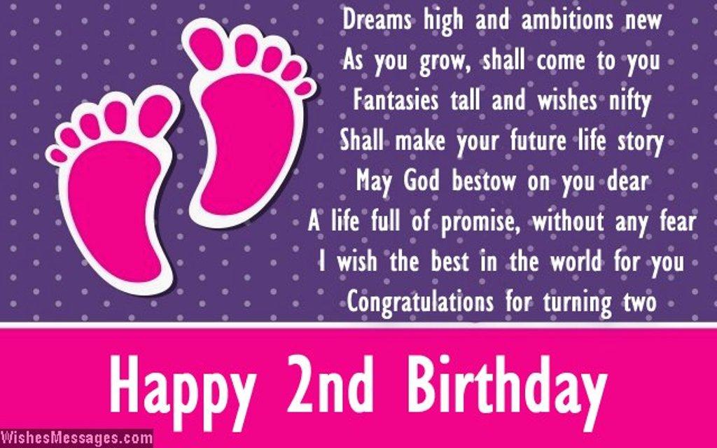 Imagenes De Birthday Greetings For 2 Year Girl